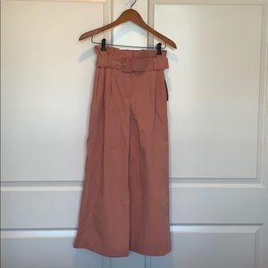 "Zara size XS paPer bag top belted ""gaucho"" pants"